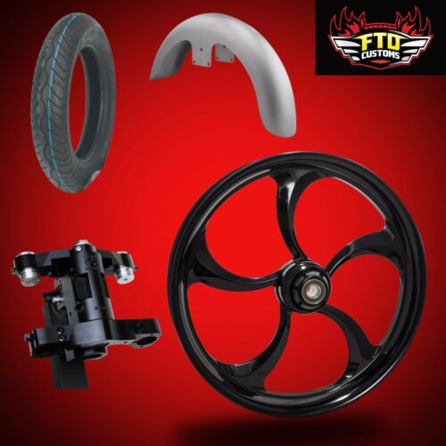 "Harley 26 Inch Big Wheel Builder Kit, Wheel, Tire, Neck, & Fender, ""merlin"""