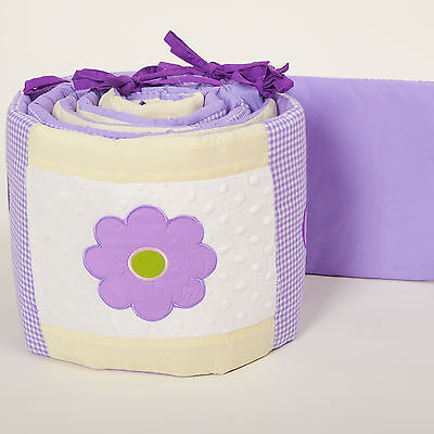 Pam Grace Creations 4-Piece Lavender Butterfly Crib Bumpers