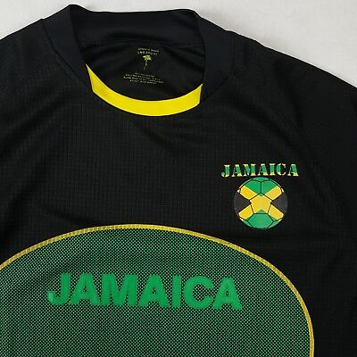 fa6ff8b690a JAMAICA Football soccer Jersey Authentic Brand LMS Sports Large Men s Black