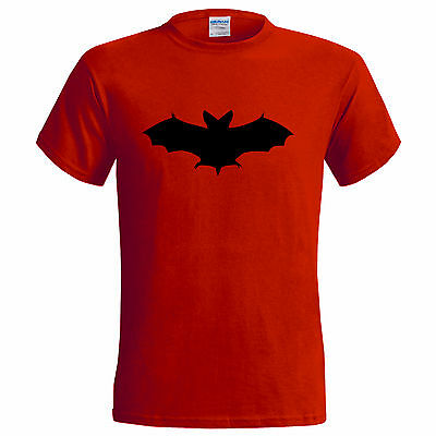 BLACK BAT DESIGN MENS T SHIRT HALLOWEEN TRICK OR TREAT GOTH DRACULA VAMPIRE ()