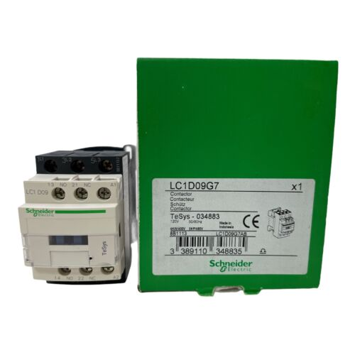 Schneider Electric LC1D09G7AB Contactor 120VAC 50/60Hz Tesys 034883
