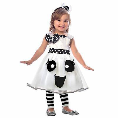 Kids Girls Toddlers Cute Ghost Ghoul Boo Polka - Cute Ghost Kostüme