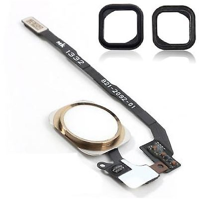 For iPhone 5S Home Button With Flex Cable Replacement White & Gold