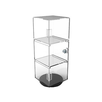 Clear Display Cabinet Acrylic Showcase Plexiglass Shelf Display Transparent -