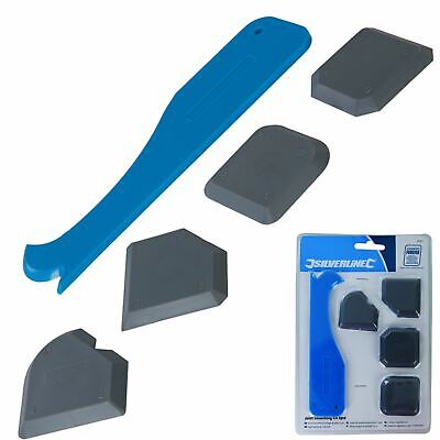 Silverline 5pc Sealant Tool Smoothing Silicone Grout Spreader Caulk Finishing