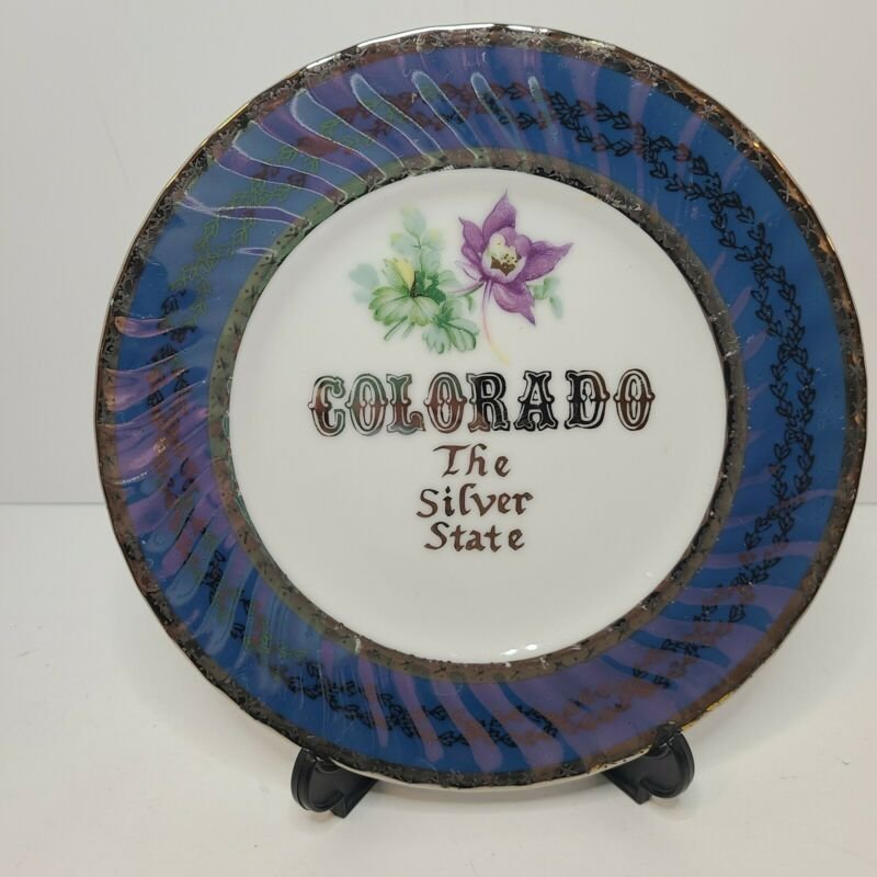 Vintage Norcrest Fine China Colorado The Silver State Salad Plate S-591