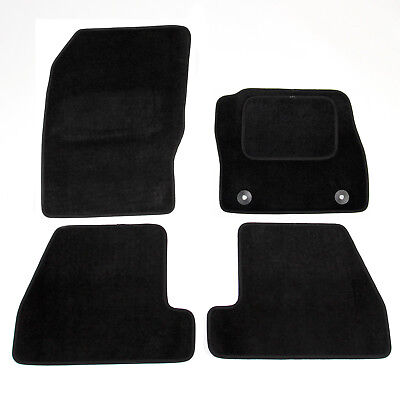 Car Parts - Ford Focus Mk3 2011-2015 Fully Tailored Carpet Car Mats Black 4pcs Floor Mat Set