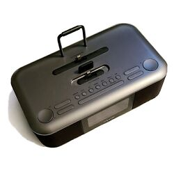 iPod IPhone Apple Dock Alarm Clock Radio Aux Charger