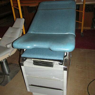 Medical Exam Table Lots Of Storage Blue Vinylwith Stirrups