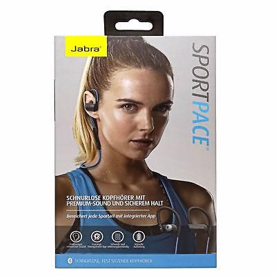 Jabra Premium Bluetooth Sport Pace Stereo Headset Ohrhörer blau (Jabra Bluetooth Stereo Headset)
