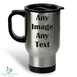 3921ef529a1 Personalised Thermal Travel Mug Cup Flask Custom Photo Image Coffee Tea Xmas