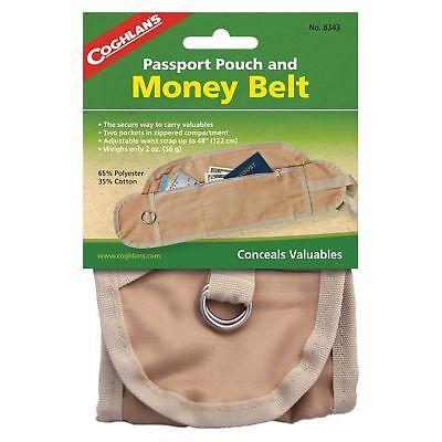 Coghlan's Passport Pouch And Money Belt Travel Belt #8343