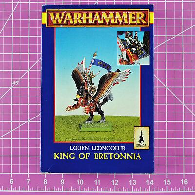Warhammer Louen Leoncoeur King of Bretonnia on Hippogriff Metal Rare OOP Citadel