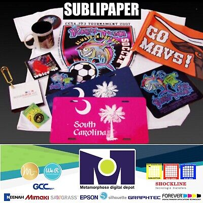 "100Sh 8.5""x11"" Sublimation Paper Iron On Heat Press Transfer Paper Print T-shirt, usado comprar usado  Enviando para Brazil"