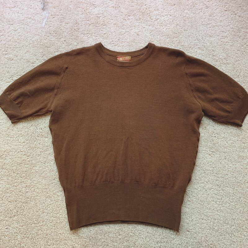 1940s/1950s Brown Knit Sweater