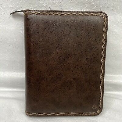 Franklin Covey Brown Full Zip Around 7-ring Planner Organizer 765410 Leather