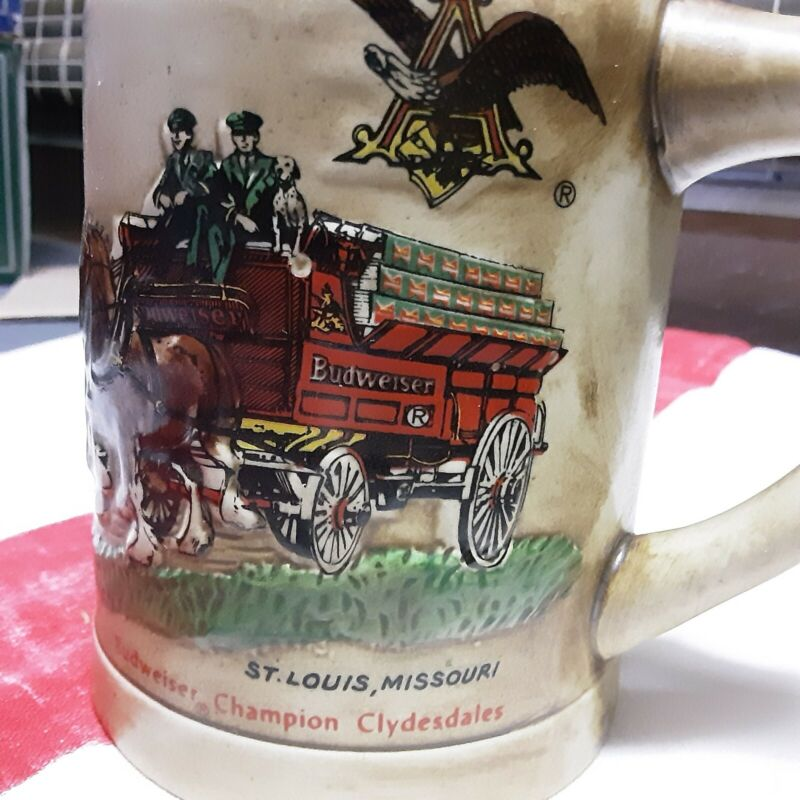 1980 Anhueser Busch Holiday Stein With Green Cases