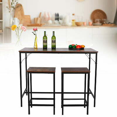 Small Table 2 Chairs Breakfast Bar Table Kitchen Dining Room 3 Piece Set