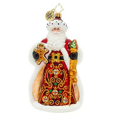[NEW Christopher Radko KING OF SWEETS SANTA Christmas Ornament 1020207</Title]