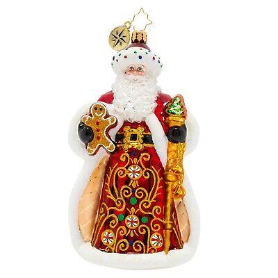 [NEW Christopher Radko KING OF SWEETS SANTA Christmas Ornament 1020207</Title]