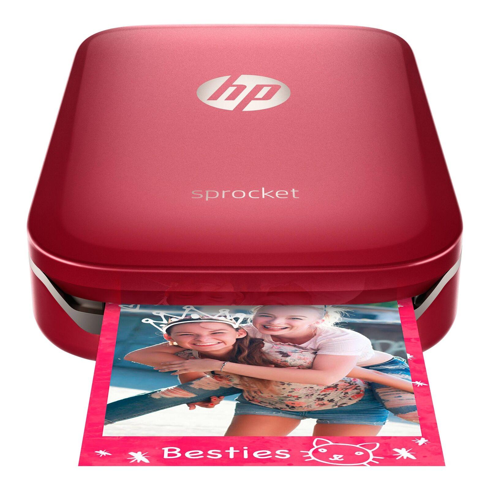 $109.95 - *BRAND NEW* HP - Sprocket 100 Photo Printer Smartphone Printer - Red