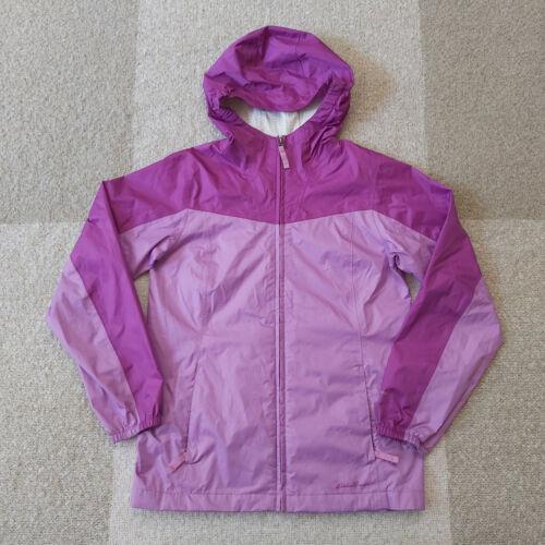 Eddie Bauer Weatheredge Packable Rain Jacket Raincoat Youth Girls Kids Large 12