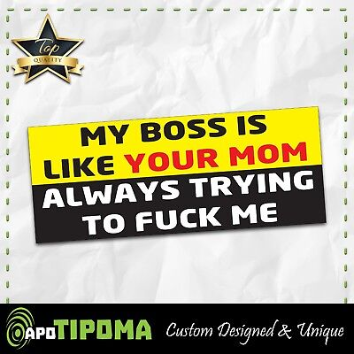 MY BOSS LIKE bumper sticker funny WHEELER car jeep 4X4 offroad 4wd dirt JDM mud for sale  Shipping to Canada