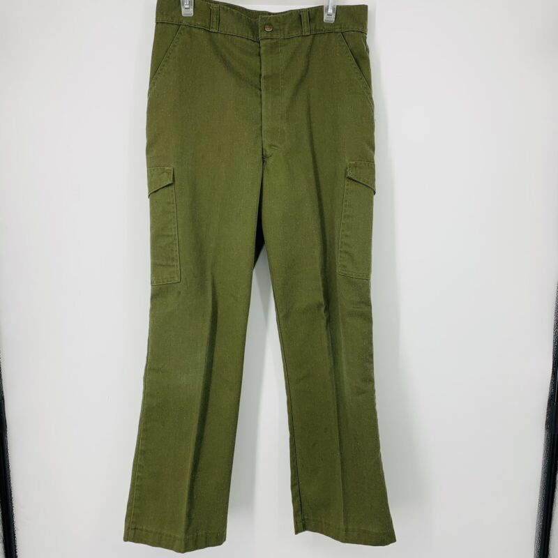 Boy Scouts of America Mens 32x30 Cargo Pants Olive Green