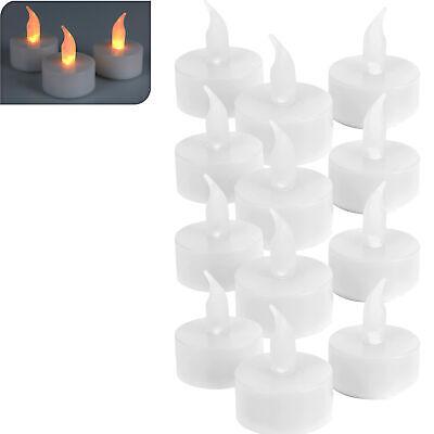 LED Teelichter 12er Set flammenlose Flacker Kerzen elektrisch Teelicht flackernd (Flammenlose Led Tee Lichter)