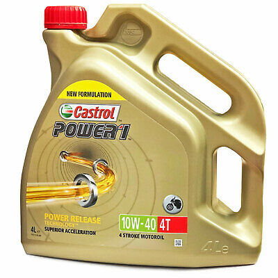 CASTROL POWER 1 4T 10W 40 MOTORCYCLE 4 STROKE ENGINE OIL 10W40 4 LITRE