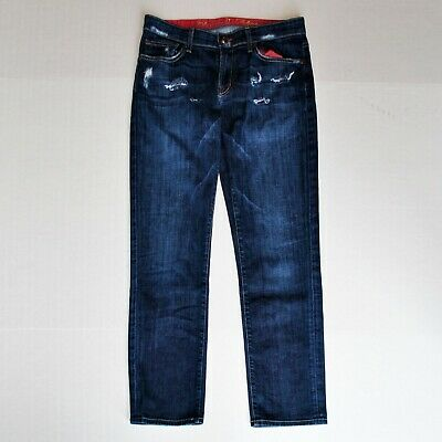 COOKIE JOHNSON Love Boyfriend Medium Wash Distressed Jeans - Size 27