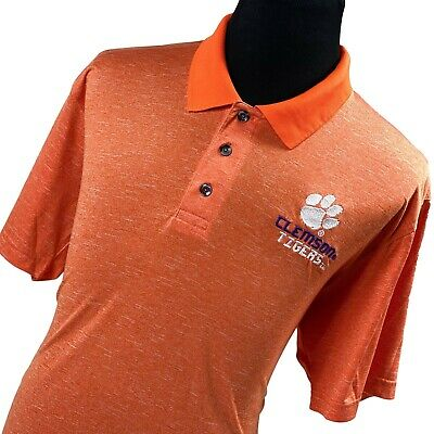 Knights Apparel Clemson Tigers Orange Performance Sports Golf Polo Shirt Mens XL