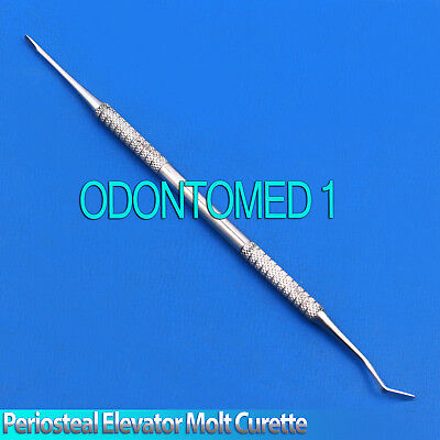 X10 Dental Molt Periosteal Elevator Implant Curette Oral Surgery Surgical Tools