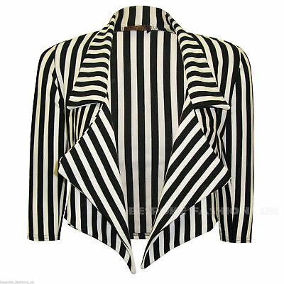 ween Fancy Dress Skeleton Stripe Blazer Beetlejuice UK 8-22 (Womens Fancy Dress Halloween-kostüme)