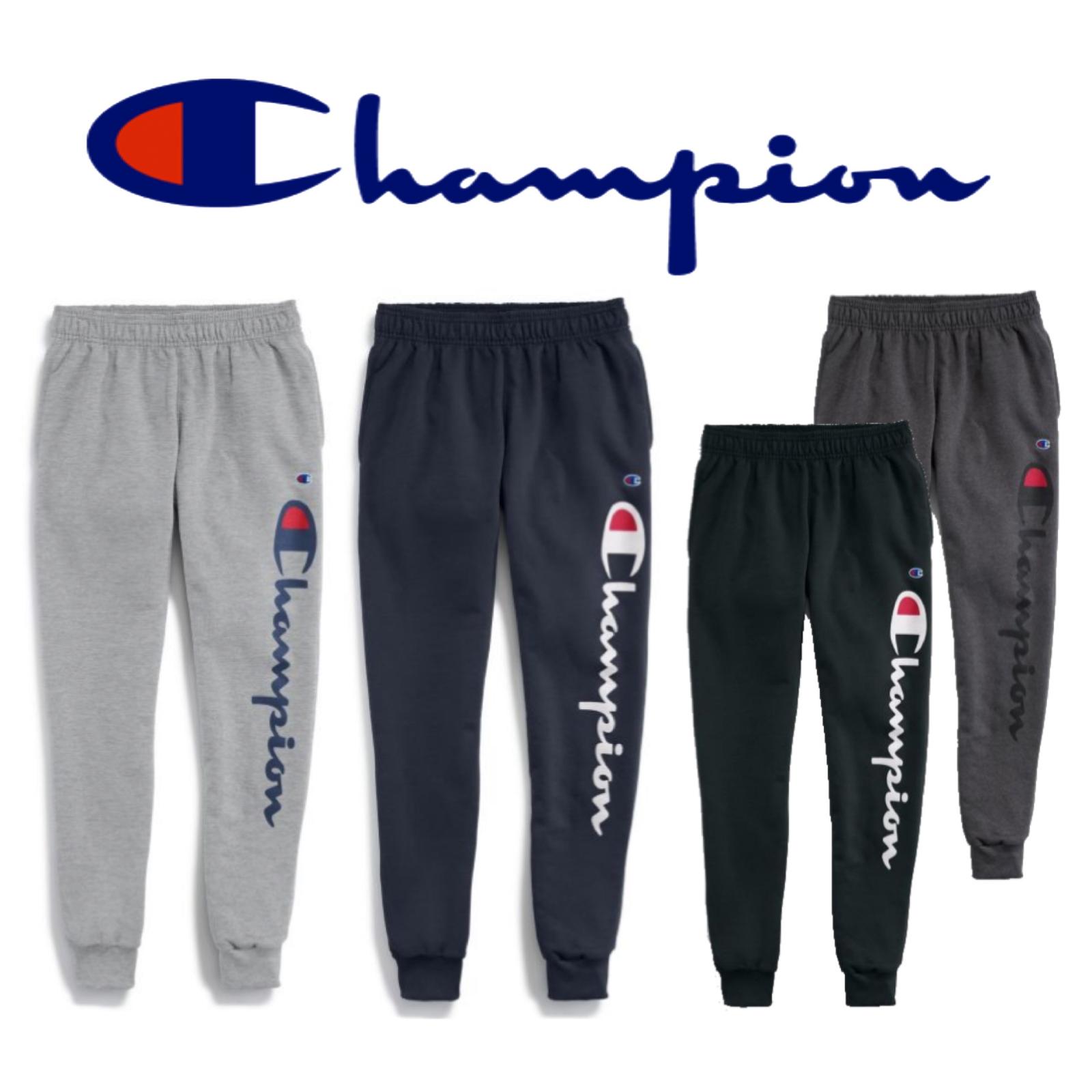 Champion Authentic Men/'s Classic Jersey Jogger Verticle Script Logo GP08H Y07234