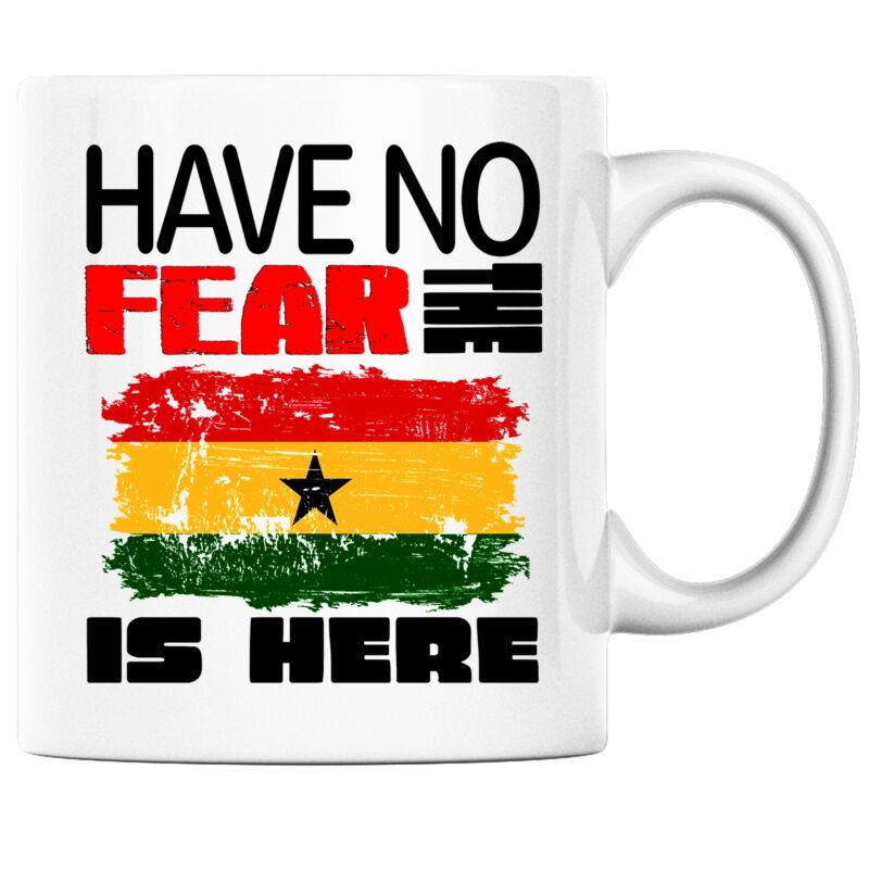 Have No Fear the Ghanaian is Here Funny Coffee Mug Ghana Heritage Pride
