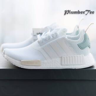 Women US 7.5 Brand New Adidas NMD R1 Force White Tactile Green