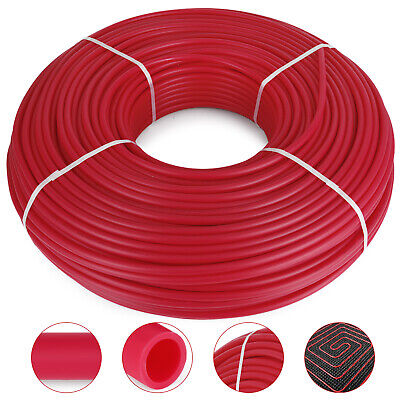 """1/2"""" x 1000ft Pex Tubing Pex Pipe Oxygen Barrier O2 EVOH Red"""
