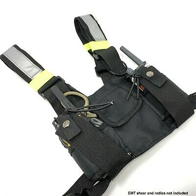 Emptacsply Lightweight Universal Ham Radio Gps Chest Harness Bag Holster Hold
