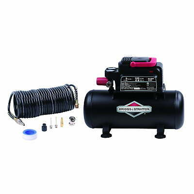Small Air Compressor 3 Gallon Portable With Hose Kit Tank 125 Psi 120v Electric