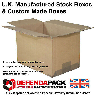 "5 Cardboard POSTAL BOXES Posting Shipping 9"" x 6"