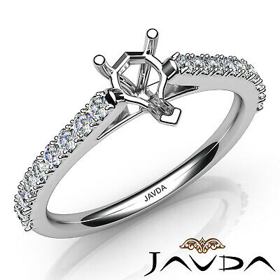 Double Prong Set Diamond Engagement Pear Cathedral Semi Mount Ring 0.30Ct. ()