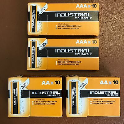 Duracell 20 x AAA and 20 x AA Industrial Battery Replaces Procell Expiry 2024
