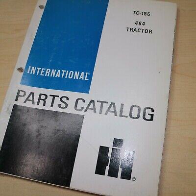 Ih International 484 Tractor Parts Manual Book Spare Catalog Farm List 1985 Oem