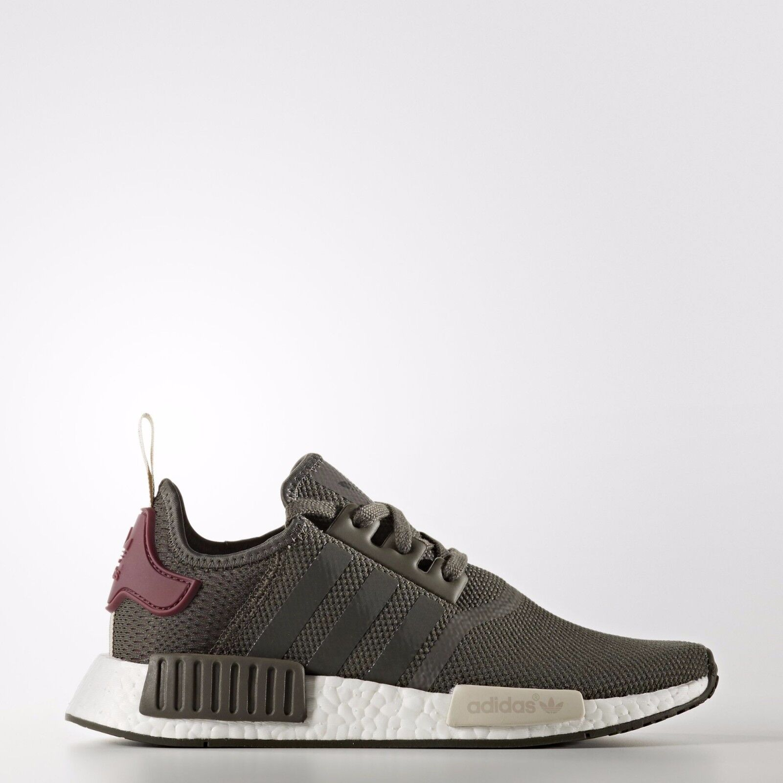 Womens Adidas NMD Nomad ba7752 olive green maroon burgundy R1 boost sneaker new · $129.94 · Athletic