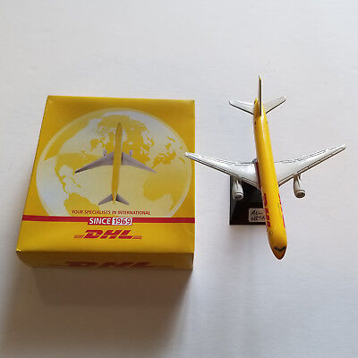 Boeing 757 200 Diecast Airplane 1 400 Dhl Cargo All Metal Pad Printed W Stand