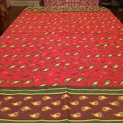"Provence High style Tablecloth 55"" Square Made By Pomegranate India"