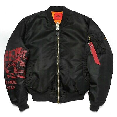 $350+ 424 ON FAIRFAX HERE TO HELP ARMBAND ALPH INDUSTRIES BOMBER JACKET NEW