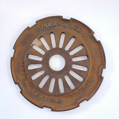 Medium Corn - Ih International Cast Iron 1962a Seed Planter Plates Rings 1962 A
