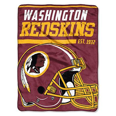 NFL große Decke WASHINGTON REDSKINS Silk Throw Blanket 40 Yard Dash